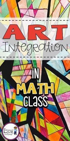 Take your geometry lesson up a notch by integrating the arts. This colorful geometry lesson is sure to engage your students and brighten up your classroom. Take your geometry lesson up a notch by inte Math Art, Fun Math, Math Activities, Geometry Activities, Math Teacher, Math Classroom, Teaching Math, Teaching Geometry, Geometry Lessons