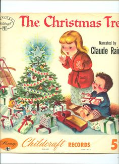 Vintage Children's Record Jacket..The Christmas by frenchhen1, $4.50