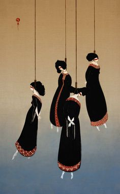 Hayv Kahraman.  Iraqi artist who has no doubt seen what she's painted.