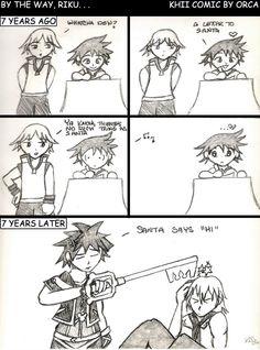 Sora & Riku. I always loved that Riku didn't believe in Santa and Sora met him and all that... Hehehe!