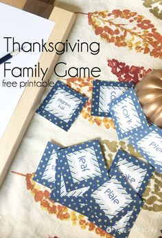 Family Game for Thanksgiving, including a free printable! - The Crafting Chicks Thanksgiving Family Games, Free Thanksgiving Printables, Thanksgiving Traditions, Thanksgiving Gifts, Thanksgiving Decorations, Free Printables, Family Traditions, Thanksgiving Recipes, Diy Party