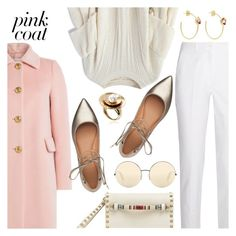 """""""Hey, Girl: Pretty Pink Coats"""" by dressedbyrose ❤ liked on Polyvore featuring Chicwish, Michael Kors, Valentino, RED Valentino, Sigerson Morrison, Victoria Beckham, polyvoreeditorial and pinkcoats"""
