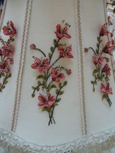 ribbon embroidery detail