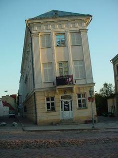 Tartu's corrked Art Museum in Estonia: http://www.europealacarte.co.uk/blog/2009/08/18/tartus-crooked-art-museum/