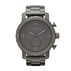 FOSSIL® Watch Styles Casual Watches:Watch Styles Nate Stainless Steel Watch - Smoke JR1400