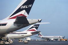 Delta A310s at JFK, September 1992