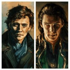 Hiddleston as Sherlock and Cumberbatch as Loki that is crazy awesome art << THIS IS BENDING MY BRAIN