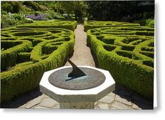 Sundial and Knot Garden, Botanic Gardens, Dunedin, Otago, South Island, New Zealand. Henry VIII had a particular liking for sundials.