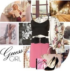 """""""Are You a GUESS Girl?"""" by nikkeeb ❤ liked on Polyvore"""