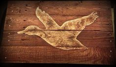 Duck Hunting Pallet Wood Art Sign Reclaimed by HarveyPalletDesigns
