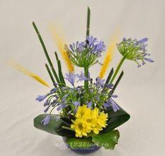 Aranjamente Florale Nunta: Agaphantus, Aspidistra, Crizantema (Chrysanthemum), Triticum, Equisetum