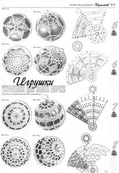Discover thousands of images about Crochet bauble chart pattern Crochet Christmas Decorations, Crochet Decoration, Crochet Ornaments, Christmas Crochet Patterns, Holiday Crochet, Crochet Snowflakes, Christmas Crafts, Christmas Balls, Crochet Diagram