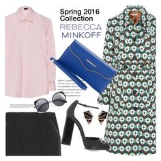 """Style Rebecca Minkoff's Spring 2016 Collection Now"" by janephoto ❤ liked on Polyvore featuring Miu Miu, Yves Saint Laurent, Joseph, Gucci, Rebecca Minkoff, Wood Wood, Nak Armstrong, rebeccaminkoff and contestentry"