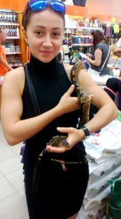 Snake on me arm....  Sssss