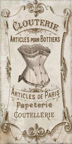 #Lollipop # Lingerie lives this Vintage French #Corset Ad