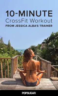 Get ready to take your workout to the next level with Jessica Alba's CrossFit trainer, Yumi Lee. This workout is excuse-proof: you don't need any equipment, and it's only 10 minutes long, but it will definitely get your heart pumping. No need to be intimidated by CrossFit either: Yumi provides level-appropriate variations for every move.