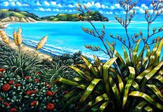 Caz Novak, Taranaki, New Zealand Nz Art, Art For Art Sake, New Zealand Art, Les Cascades, Kiwiana, The Beautiful Country, Outdoor Art, Ocean Life, Wall Ideas
