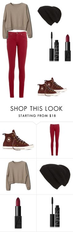 """""""Casual Autumn Day"""" by cookiesrule21 ❤ liked on Polyvore featuring Converse, Tommy Hilfiger, Phase 3 and NARS Cosmetics"""