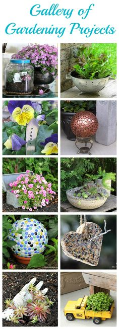 Over 20 DIY gardening projects that are super easy and fun to make!!! Bebe'!!! Great garden ideas!!!