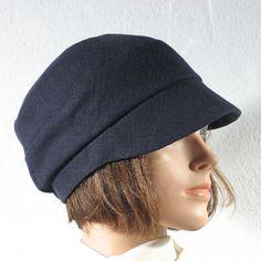 """Leinenmütze """"Sylt"""" marine Leinen/Viskose 34,90 Small Umbrella, Hair Scarf Styles, Hat Patterns To Sew, New Shape, Cloche Hat, Dress Hats, Scarf Hairstyles, Hat Making, Headgear"""
