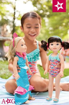 2f4ccc8f94 Fun Fish Swimsuit & Cover-Up for Girls & Dolls