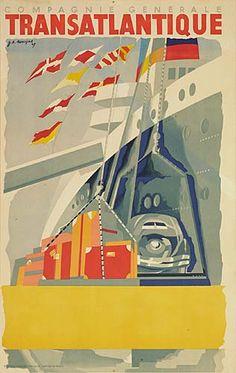Compagnie Généale Transatlantique - 1947 - (Jean Auvigne) -