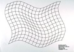 Limitation through sinus curves, academic year 1963–64 Lecturer: Helmut Emde Student: Peter Westenfelder Photo: HfG Archive