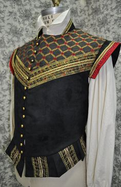 Mens Renaissance Doublet----Made To Order---Custom--One Of A Kind $200.00, via Etsy.