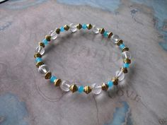 Brazilian aqua bracelet by Shynnasplace on Etsy, $23.99