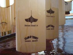 Laser engraved paddles - customize for your rowboat !