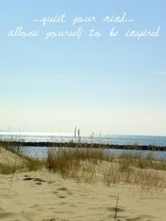 And my mind is always inspired at the beach. Isn't yours?