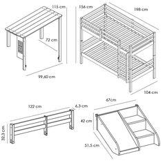 Altura entre camas beliche pesquisa google medidas - Medidas camas infantiles ...