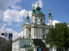 St. Andrew's Church, Kiev, Ukraine #travel #ukraine #churches