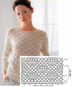 Crochet Jumper, Crochet Vest Pattern, Crochet Diagram, Knit Crochet, Crochet Patterns, Crochet Girls, Love Crochet, Tunisian Crochet, Crochet Stitches