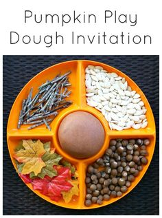 Pumpkin Play Dough Invitation for Fall