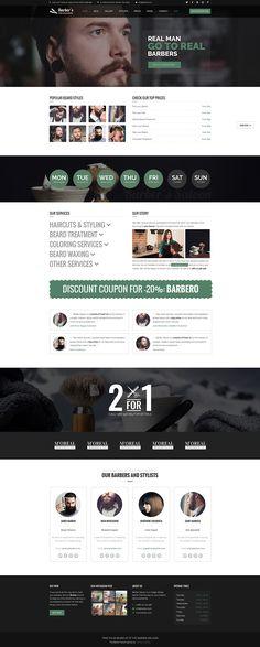 Salon / Barber Shop Website Design