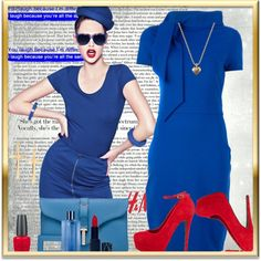 """""""Blue Intuition!"""" by fashionme ❤ liked on Polyvore"""