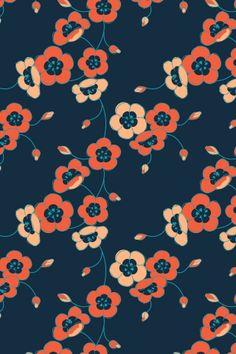 pattern by lilypadster. Textiles, Textile Patterns, Textile Design, Pretty Patterns, Beautiful Patterns, Flower Patterns, Texture Illustration, Stuffed Animal Patterns, Illustrations