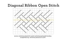 Diagonal Ribbon Stitch from July 1 whimsicalstitch.com/whimsicalwednesdays blog post.