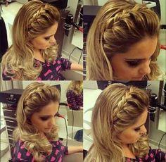 Hair Styles Festa Solto Longo 60 Ideas For 2019 Down Hairstyles, Trendy Hairstyles, Braided Hairstyles, Natural Hair Styles, Short Hair Styles, Wedding Guest Hairstyles, How To Make Hair, Bridesmaid Hair, Bridesmaids