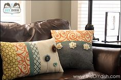 Embellished Throw Pillow Tutorial
