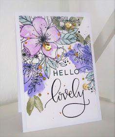 For et par dage siden købte jeg det smukkeste stempelsæt hos Happymade.dk. Det er fra Concord & 9th og hedder Hello Lovely Stamp Set. Jeg er...