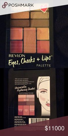 Revlon's Eyes, Cheeks & Lips portable palette! 🎨 This is Palette 100, Romantic Nudes.  In 6 universally flattering shades, there are 6 eye shadows, 2 lipsticks, 2 lip glosses and one blush.  Could easily slip into a clutch or cosmetics  bag!  As soon as they are on sale, I will be getting some more,,,, for me!!! Revlon Makeup