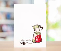 Let's meet for coffee soon! Put your own stamp on your handmade cards with the Love Coffee Stamp Set from Altenew! / cardmaking / craft / home decor / stamping / card design