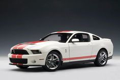 2010 Ford Mustang GT500 - Performance White w/ Red Stripes  by AUTOart (1:18 scale)