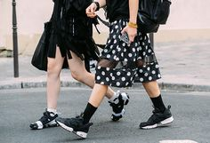 Tommy Ton Shoots Street Style at the Couture Shows in Paris  Loverr the polka dot skirt