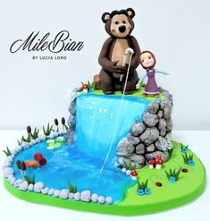 Masha and the bear water cake  by MileBian