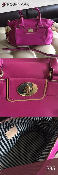 """Kate spade leather satchel Beautiful Excellent used condition. Used once and have it sit in the closet since...this soft touch leather satchel from Kate Spade i bought a few years ago...the color is beautiful...100% Authentic..i lost the dust bag that come with it.. 12"""" L x 7.5"""" H x 6"""" W kate spade Bags"""