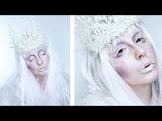 Ice Queen Makeup + Crown Halloween Tutorial! | by tashaleelyn - YouTube