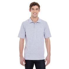 Hanes Men's X-Temp with Fresh IQ Short Sleeve Pique Polo Shirt, Size: Small, Silver